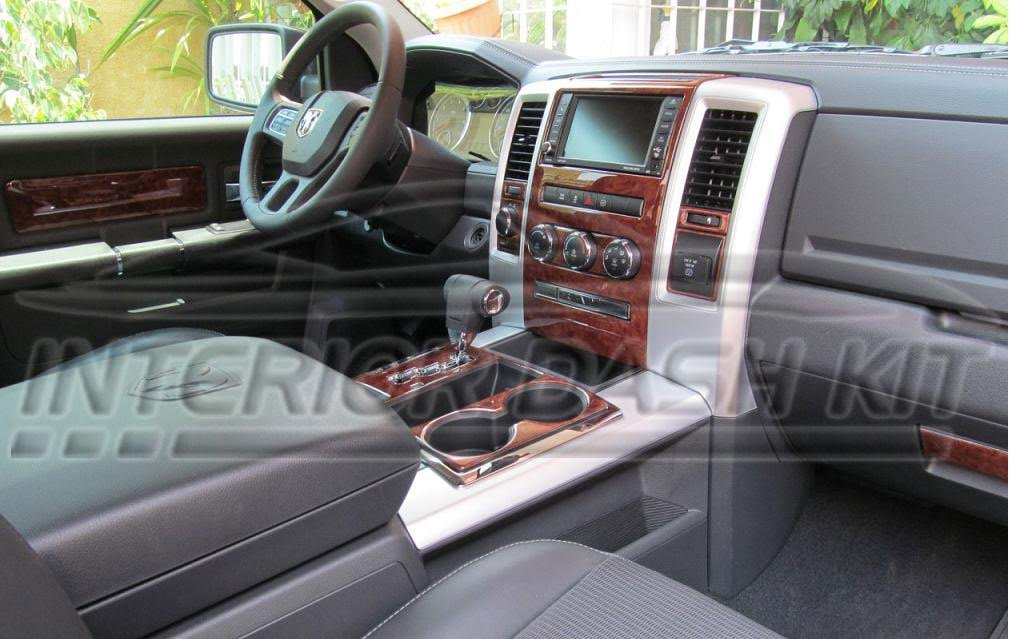 Dodge RAM 1500 2500 3500 INTERIOR BURL WOOD DASH TRIM KIT SET 2009 2010 2011 2012