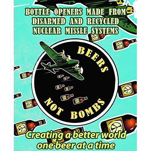 """Beers Not Bombs """"Wingman"""" Bottle Opener Key Chain"""