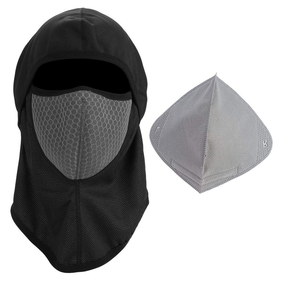Winter Riding Full Face Mask, Windproof Keep Warm Cycling Hat Hood Mask Neck Warmer Face Hood Accessory(Black) Alomejor