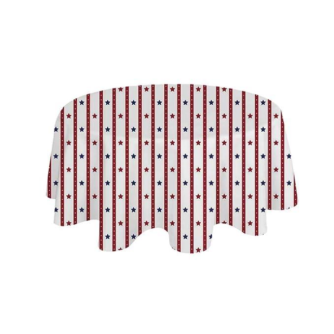 YOLIYANA Mantel redondo impermeable con diseño de nudos de corbata ...