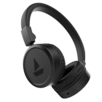 Buy Boat Rockerz 390v2 Wireless Bluetooth V4 2 Connectivity With Aux In Port Punchy Rhythmic Bass Ergonomic Design With Integrated Controls In Built Mic Active Black Online At Low Prices In India Amazon In