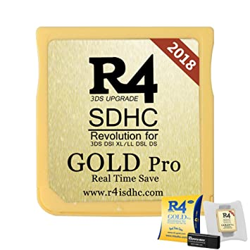 2018 R4i SDHC Gold Pro with USB Adapter for DS, DSI, 2DS, 3DS, Ndsi