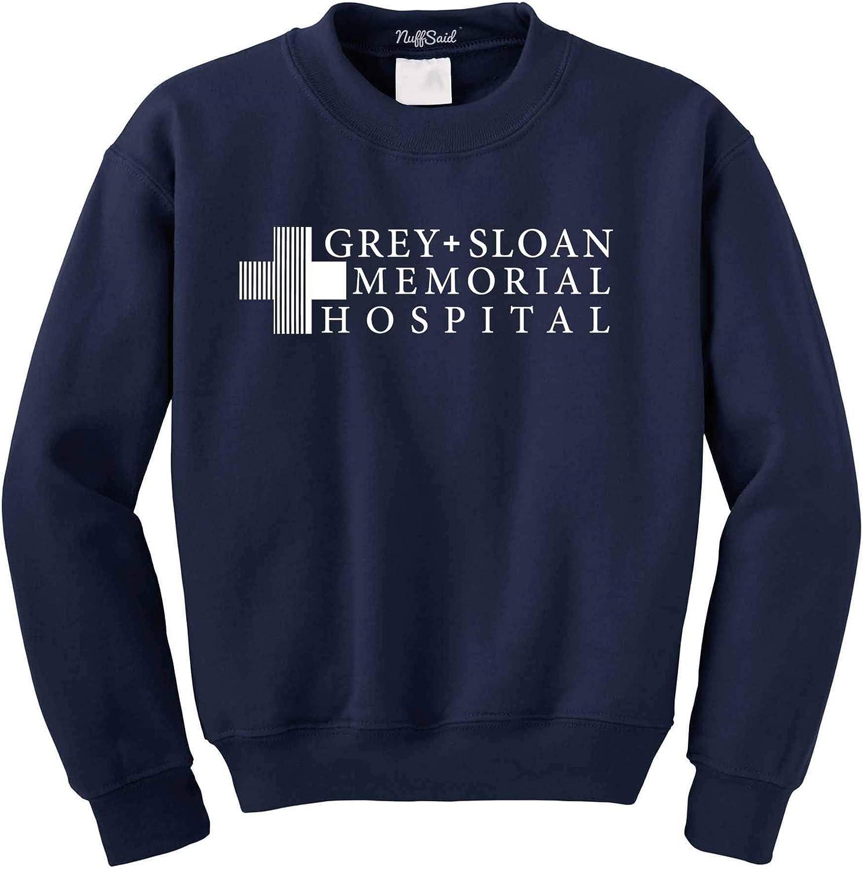 Premium Quality NuffSaid Grey Sloan Memorial Hospital Sweatshirt Sweater Crew Neck Pullover