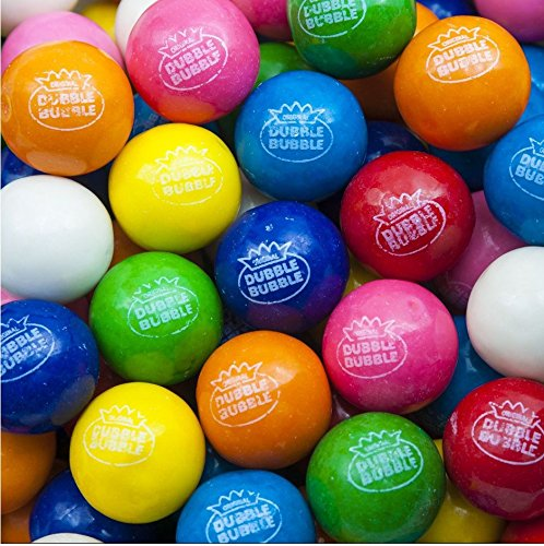 ORIGINAL Dubble Bubble 1 inch 850ct Vending Gumballs 8 Colors and Flavors Assorted - 24mm - READY TO ()