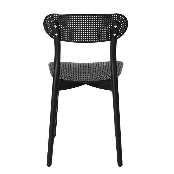 Amazon.com: FurnitureR - Juego de 4 sillas de comedor de ...