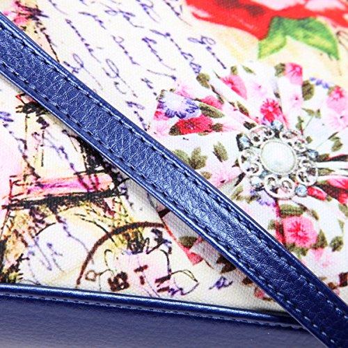 Eshow borsa a tracolla da donna di tela messenger stile retro'per l'uso quotidiano della scuola outdoor Trekking