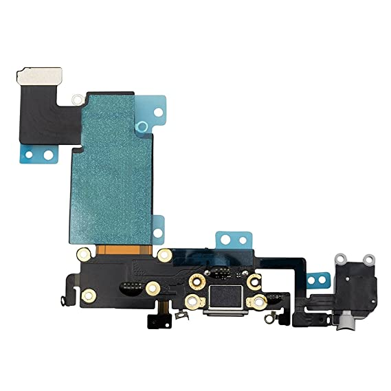 new style 364ef 8fc5a USB Charging Port Dock Connector Flex Cable + Microphone + Headphone Audio  Jack Replacement Part for iPhone 6s Plus 5.5