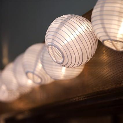 amazon com e joy lantern solar string lights globe lights string