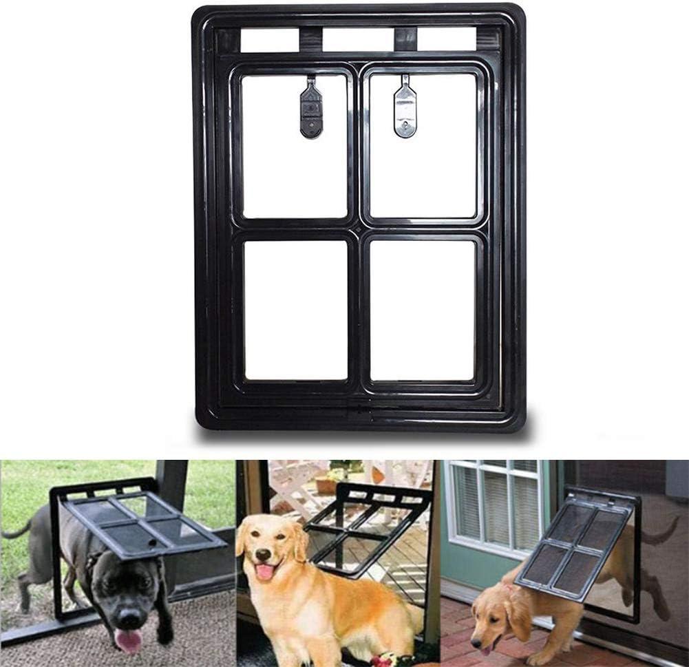 WYYZSS Puerta de Pantalla para Mascotas,Puerta de Perro para Puerta mosquitera corredera,Puerta con Cierre automático para Perros, Cachorros,Gatos: Amazon.es: Deportes y aire libre