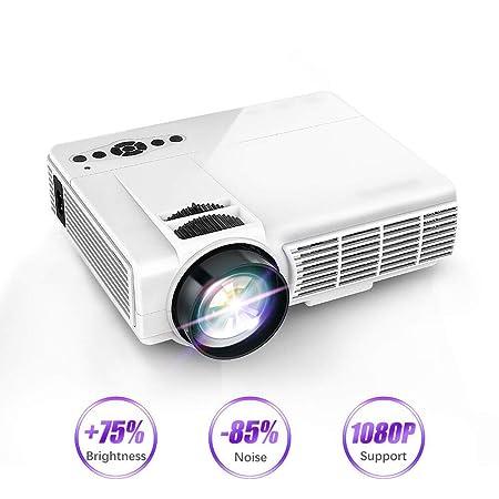 NBKLS Proyector Mini, Proyector portátil Full HD LED Sistema de ...