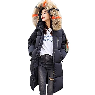 6eaabf419 vermers Women Winter Warm Faux Fur Hooded Thick Coat Overcoat - Womens  Casual Slim Down Jacket Long Outwear Clothes