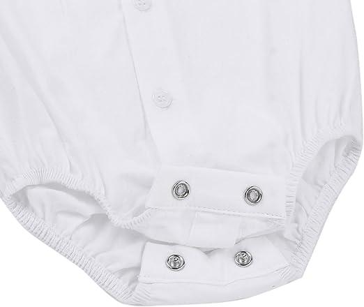 TiaoBug Bebés Camiseta Manga Larga Clásica Cuello Polo Pelele de Algodón Caballeros Bodies Recién Nacidos de Dormir Monos Unisexos para 3-24 Meses