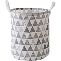 Large waterproof collapsible canvas basket barrel, with handles, can be used as storage boxes, children's toys storage…
