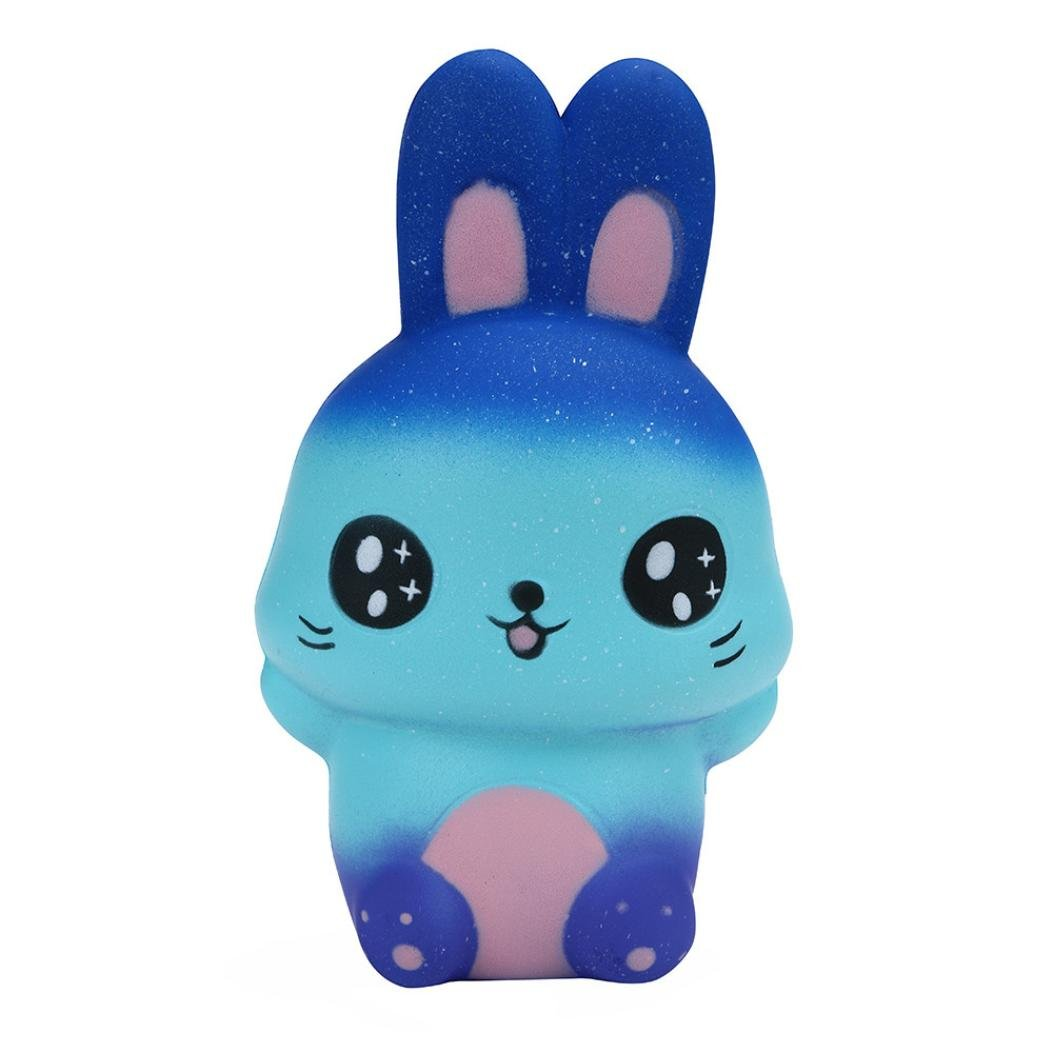 JiaMeng Juguetes de descompresión Starry Cute Rabbit Scented Slow Rising Colección Squeeze Stress Reliever Toy 1234