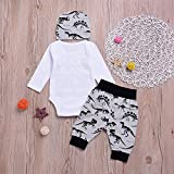 3PCS Baby Boy Outfit Set Baby Brother Dinosaur