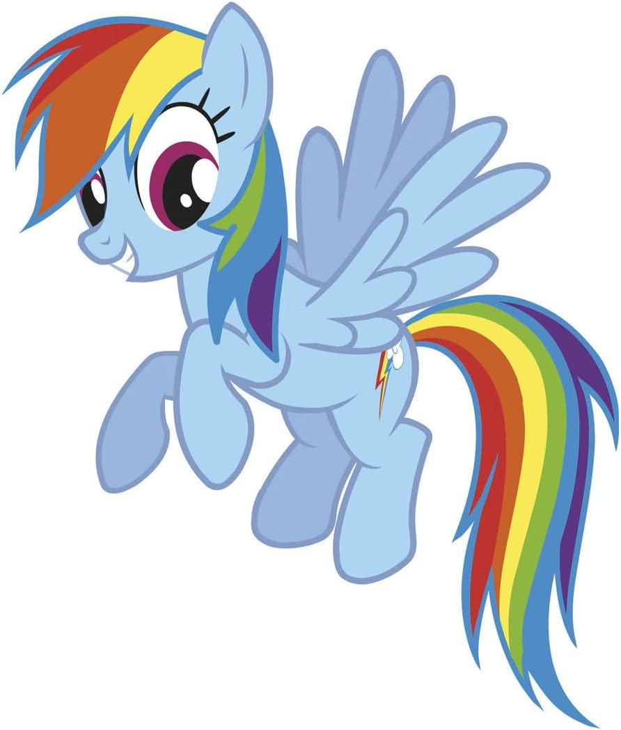 - RoomMates My Little Pony Rainbow Dash Peel And Stick Giant Wall
