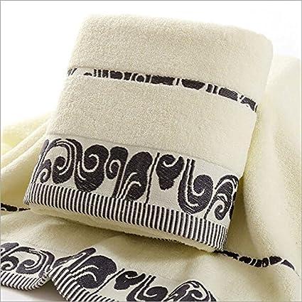narwaldate 100% de algodón toalla de baño (Golden bordado construcción de secado rápido toallas