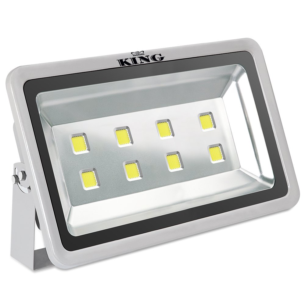 King 400W High Power LED Flood Light Daylight White 6500K Waterproof Outdoor lighting Spotlight Wall Garden Projector AC100-240V