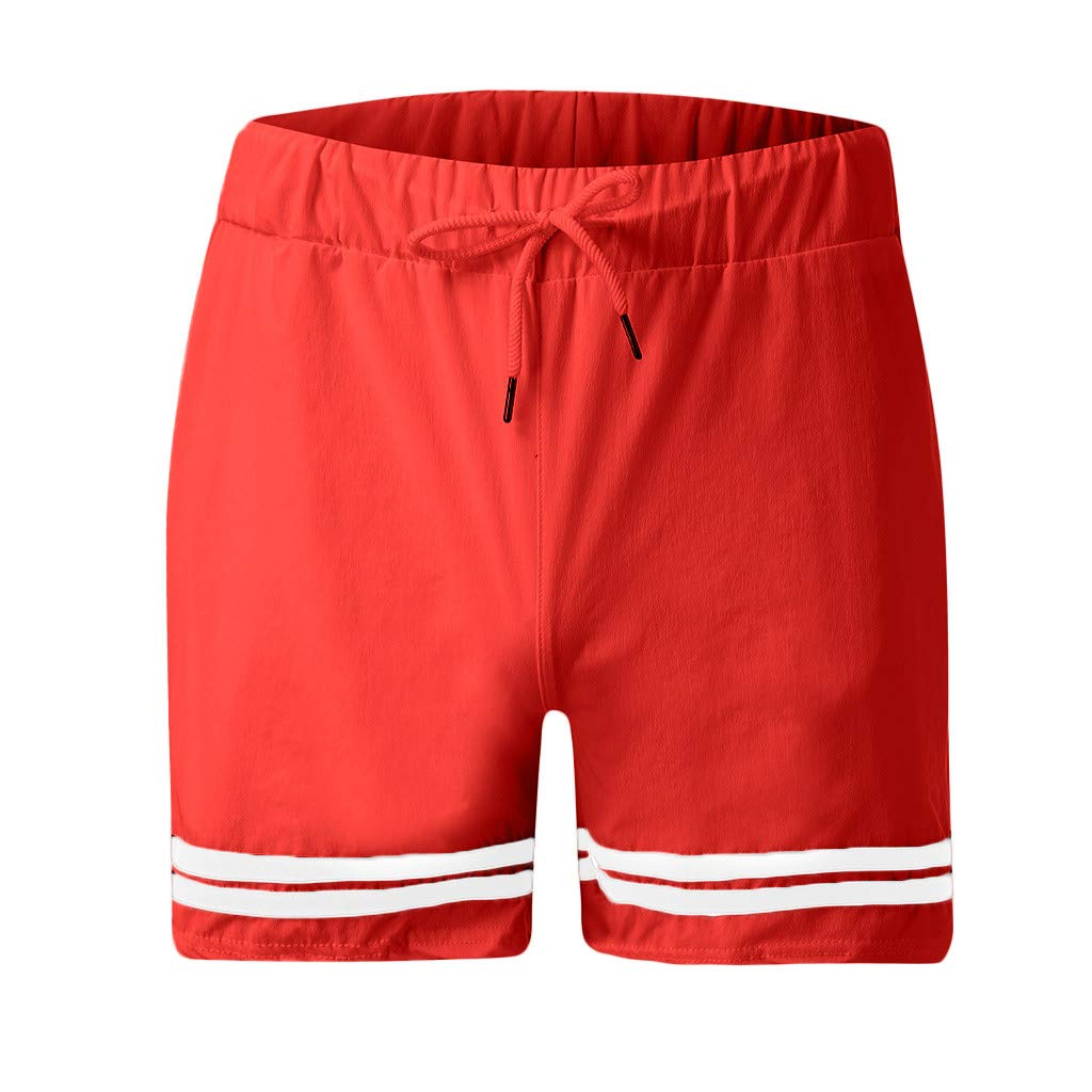 TAGGMY Mens Shorts Pocket Casual Summer Athletic Sports Fashion Elastic Rope Stretch Casual Plain Loose Beach Short Pants