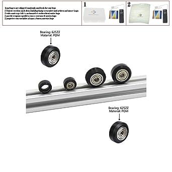Poleas de rueda de plástico POM con cojinete de goma Ranura en V ...