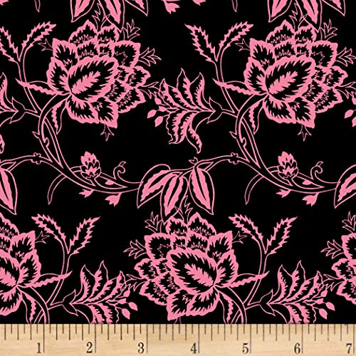 - David Textiles Paris Floral Black Fabric Fabric by the Yard