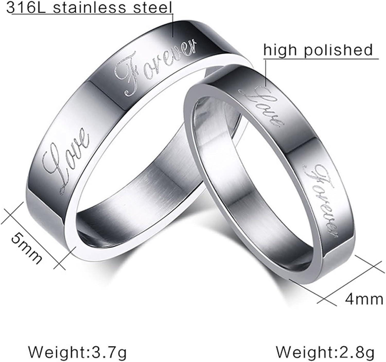Blisfille Silberring Herren Ring Frauen Edelstahl Damen