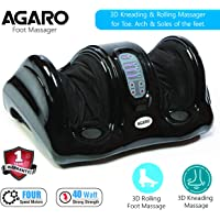 Agaro Relaxing Foot Massager for Pain Relief with Kneading, Rolling and Vibration functions