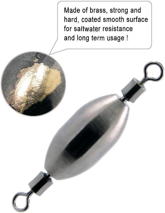 Details about  /10Pcs Quick SetUp Brass Fishing Sinker with Inner Swivel Fishing GearRolling b