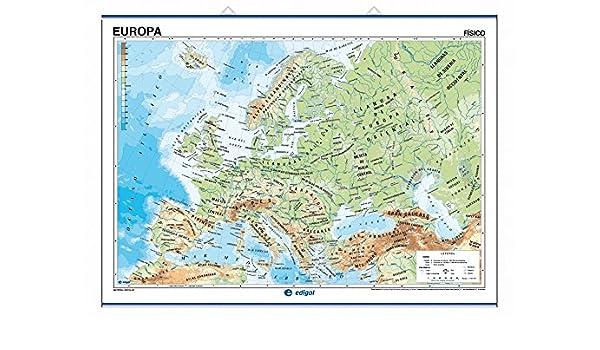 Europa, físico / político: Mapas Murales (): Amazon.es: Edigol Ediciones: Libros