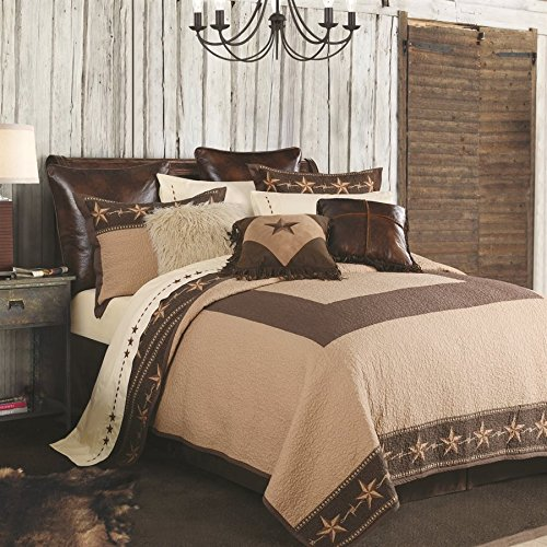 HiEnd Accents 3-PC Reversible Star Ranch Quilt Set, King