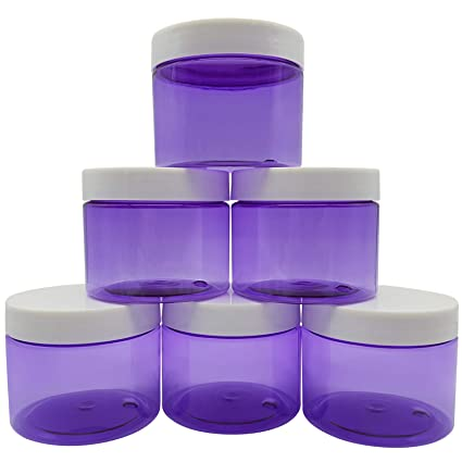2b5a8f277bbe Original Stationery Slime Containers with Lids 6 Ounce [Perfect Slime  CONTAINERS No BPA's Safe for Kids] Small Plastic Storage Jars Screw Top,  [for ...