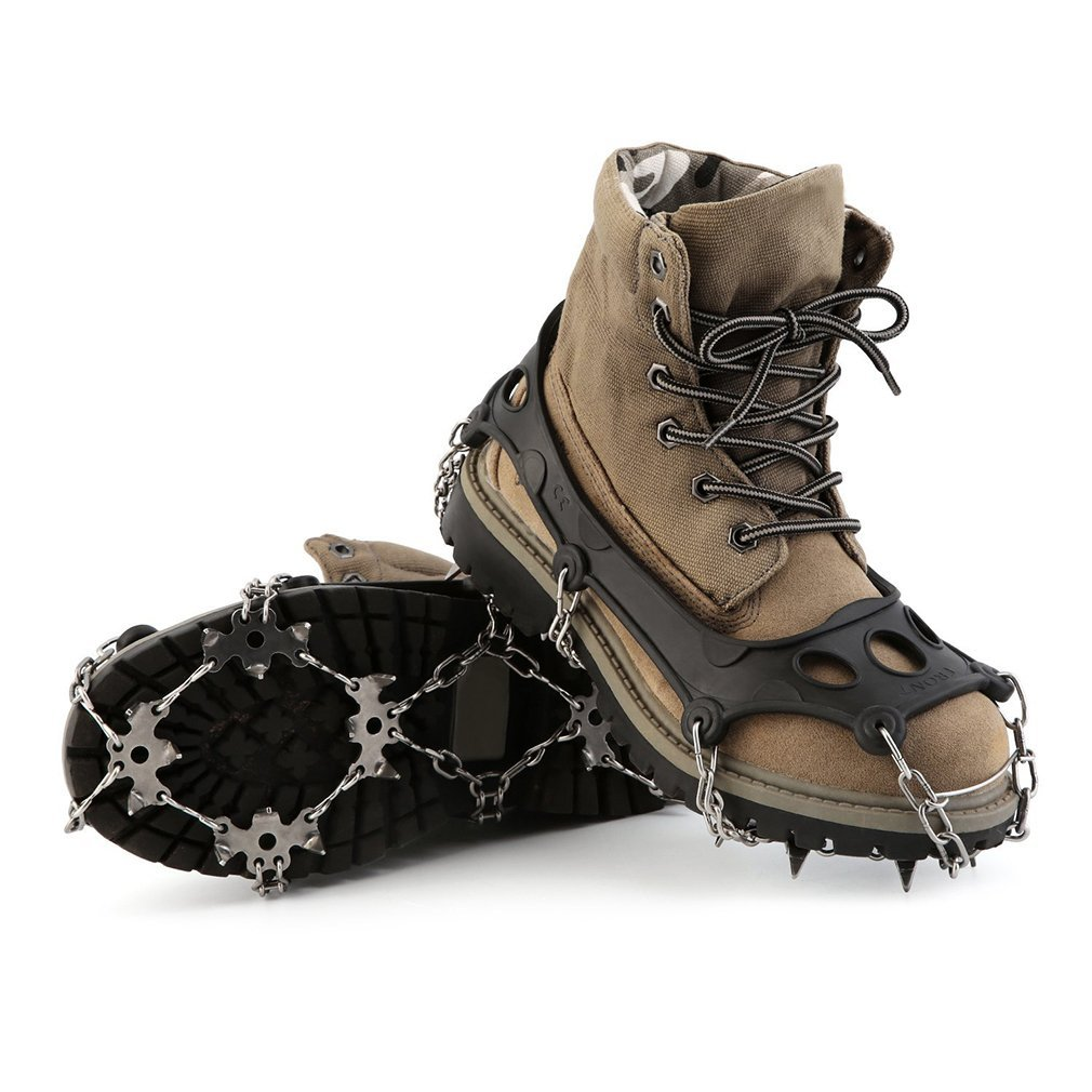 Ice /& Snow Cleats Crampon OUTAD 18 Teeth Anti-Slip Traction Cleats Ice Grips for Walking and Hiking Men and Women