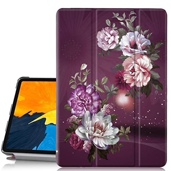 new styles d5d91 b6919 Hocase iPad Pro 11 Case, Trifold Folio Stand Smart Case with PU Leather,  Auto Sleep Wake, Plastic Hard Back Cover for iPad A1980/A2013/A1934 (Apple  ...