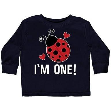 e2897bfac Amazon.com: inktastic - First Birthday Ladybug 1 Year Old Toddler Long  Sleeve T-Shirt 33747: Clothing