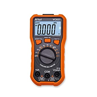 HYY-YY VC837 Digital Multimeter NCV Function DMM RMS 3 5//6 Auto Range Capacitance Resistance Frequency Duty Cycle Data Retention 6000 Count Multi Tester