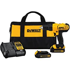 Product Image: DEWALT 20V MAX Cordless Drill / Driver Kit, Compact, 1/2-Inch (DCD771C2)