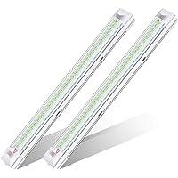 AMBOTHER Led-binnenverlichting, 2 x 108 LED binnenverlichting 12 V 6 W LED strip met ON/OFF schakelaar inbouwlamp…