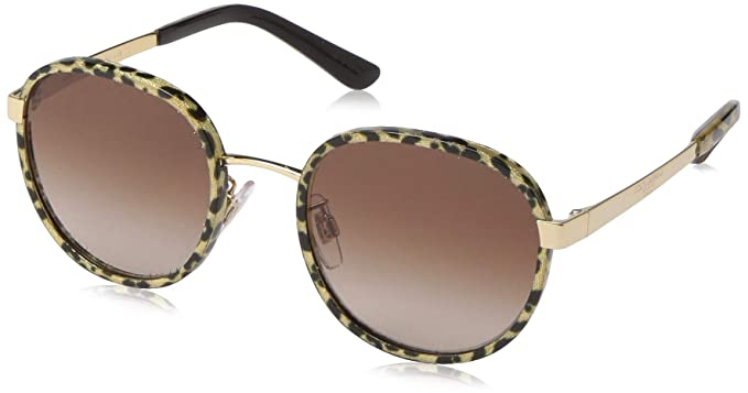 Dolce & Gabbana 0DG2227J Gafas de sol, Leo Glitter Gold, 52 ...