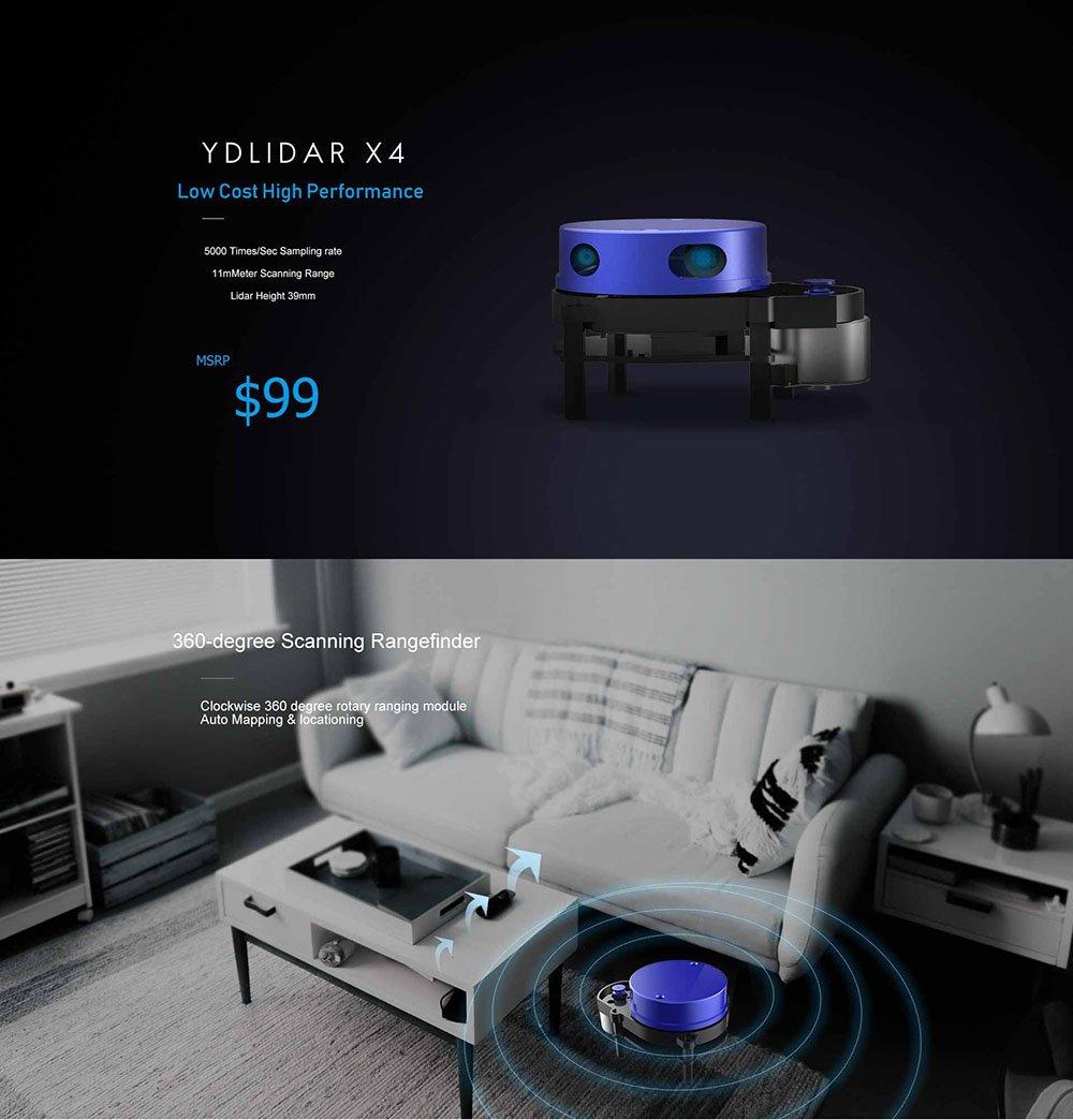 YDLIDAR X4 Lidar 360-Grad-Laser-Entfernungsscanner