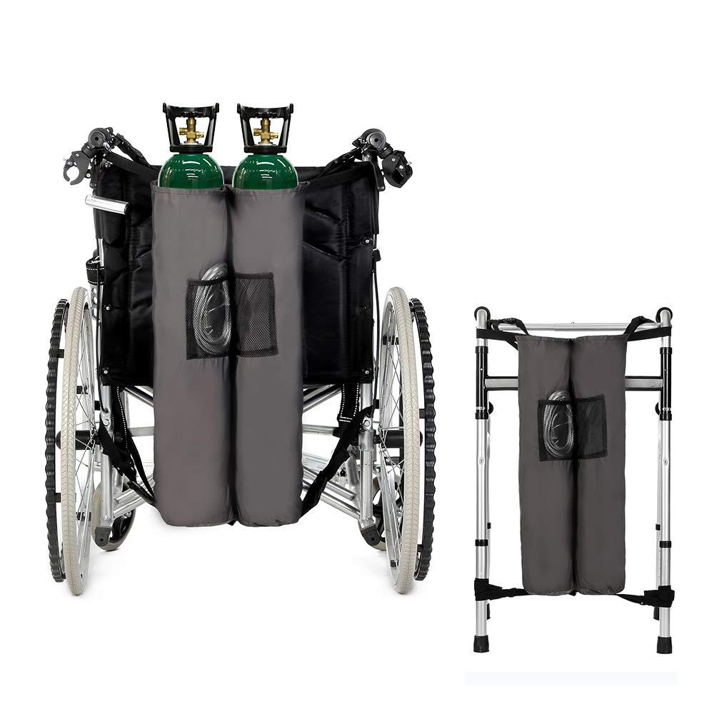 Oxygen Backpack Holder Wheelchair Walker Carrier Portable Oxygen Tank Bag''D'' and''E'' Cylinders Bottle for Medical, Home, Hospital by NEPPT