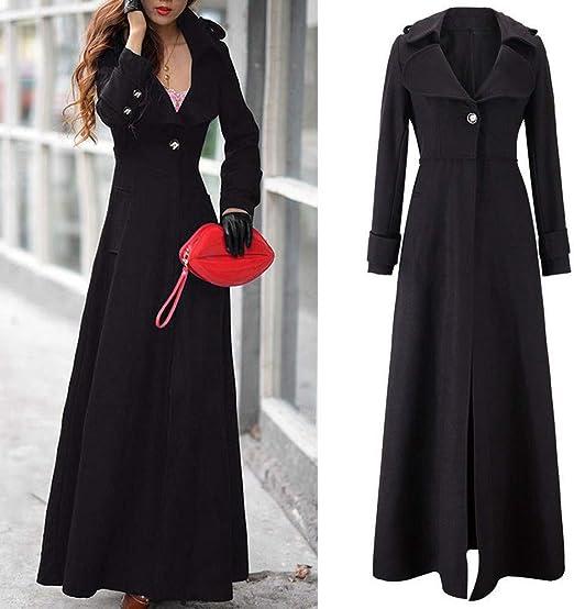 iHENGH damska zima gruba ciepła wygodna parka płaszcz revers cienki płaszcz trench kurtka długa kurtka outwear Coat: Odzież