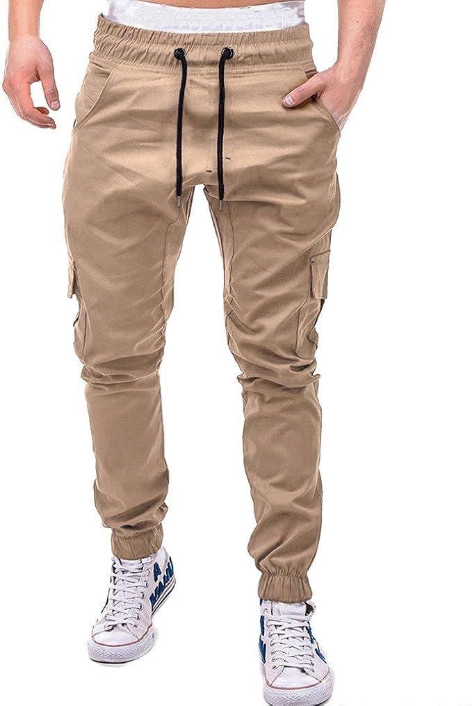 MOVERV Pantalones de Deporte Hombre Pantalones de Chándal para ...