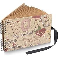 Sunstudio Photo Album Scrapbook with 40 Black Page 12x8 inch, Black Photo Scrap Book DIY Album Book Photo Books for Memories