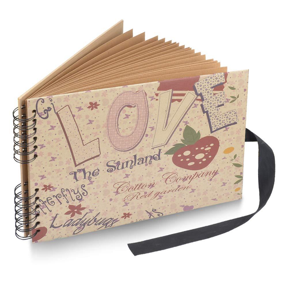 Photo Album Scrapbook, DIY Album Scrapbook Travel Scrapbook for Anniversary, Wedding, Travelling, Graduation, etc (Graffiti-01) TOPWILL