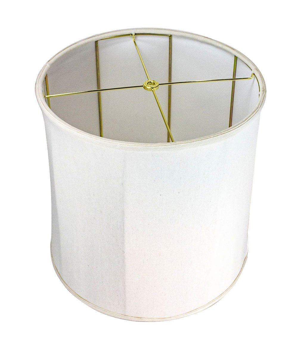 HomeConcept 141515DRLO Collapsible Drum Lampshade Premium Light Oatmeal Linen, 14'' x 15'' x 15''
