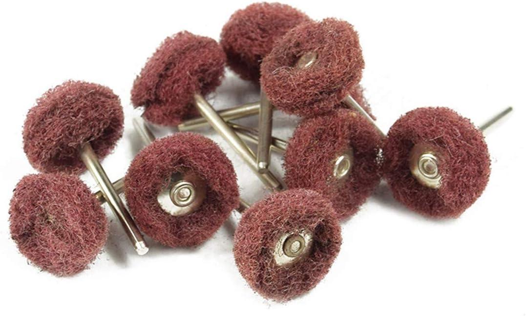 chiffon /à r/écurer Lot de 40 roues abrasives de polissage en fibre de nylon bross/ée pour outil rotatif Dremel