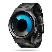 Watches Men Thin Minimalist Black Mesh Stainless Steel Waterproof Men's Quartz Wrist Watch