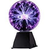 Kicko Purple Plasma Ball - 7 Inch - Nebula, Thunder Lightning, Plug-in - for Parties, Decorations, Prop, Kids, Bedroom, Home