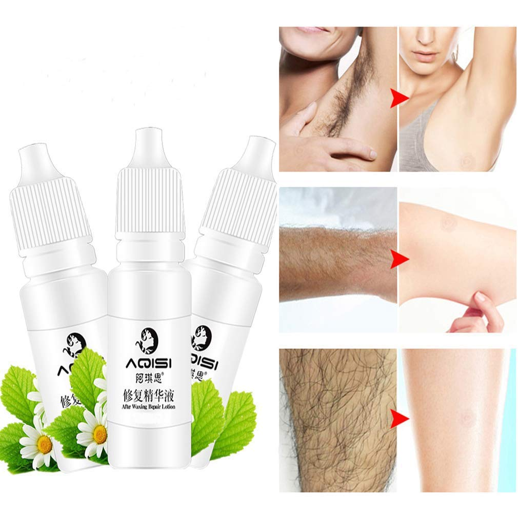 3 PACK Permanent Hair Growth Inhibitor Removal Repair Nourish Essence Liquid Hair removal repair Liquid 10ML/bottle