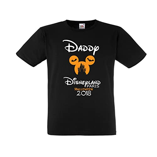 disneyland paris halloween personalised family t shirts black